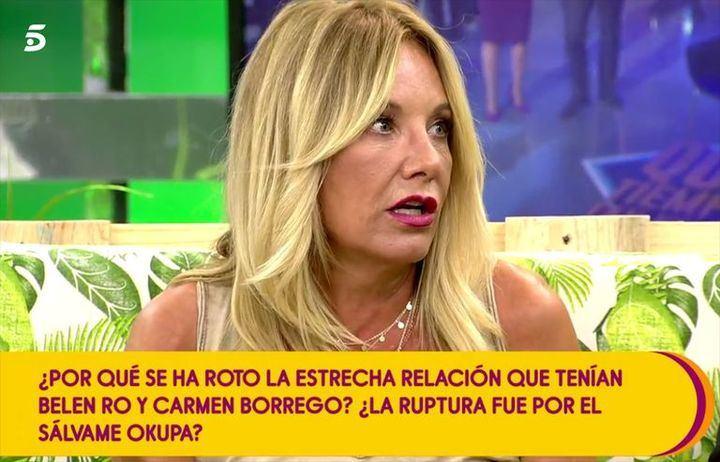 """DIEZ MINUTOS Belén Ro: """"No pienso decir nada en contra de Teresa Campos"""""""