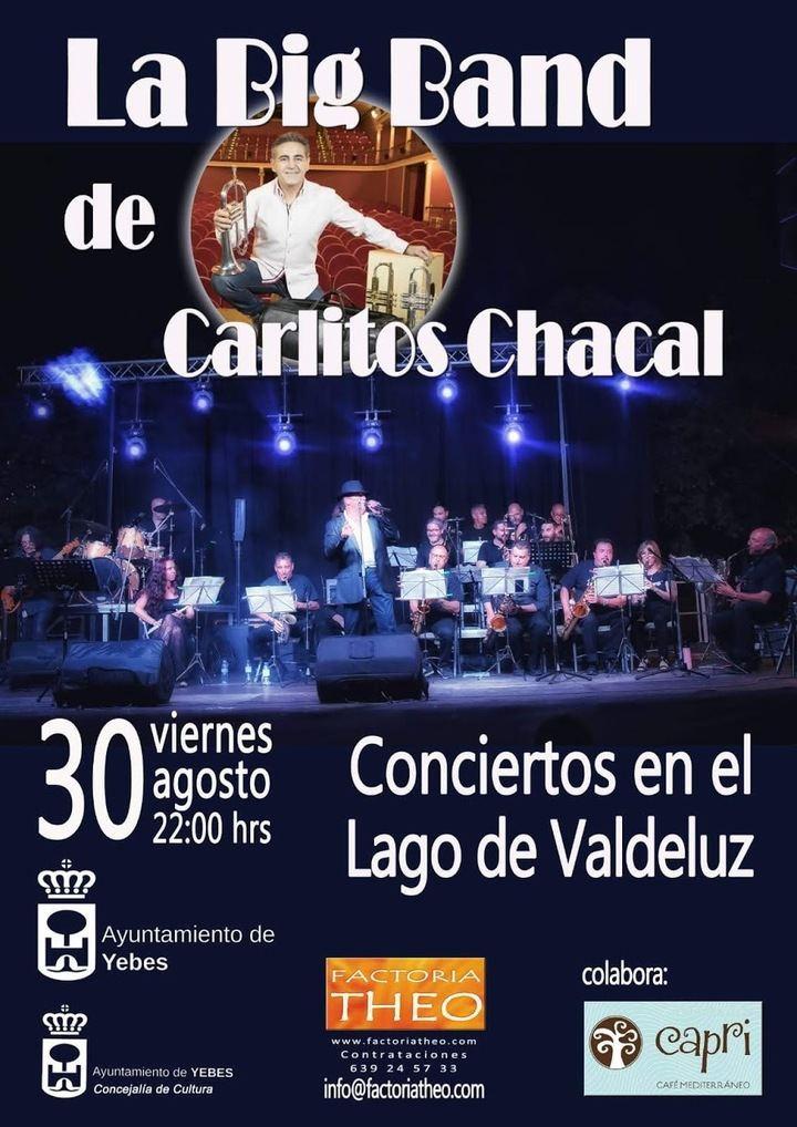 La Big Band de Carlitos Chacal actúa este viernes 30 en los conciertos estivales del Lago de Valdeluz