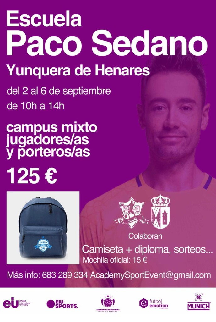La Escuela Paco Sedano organiza un campus mixto de fútbol sala en Yunquera de Henares