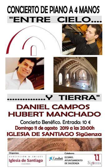 Este domingo, concierto de piano benéfico a favor de la Iglesia de Santiago de Sigüenza