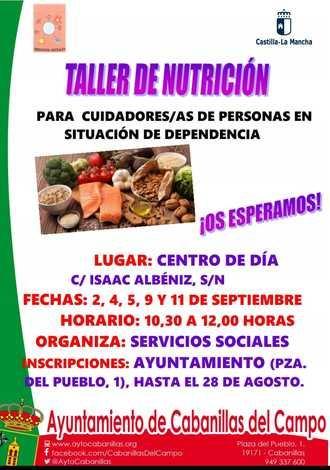 Los Servicios Sociales organizan un Taller de Nutrición para personas cuidadoras de dependientes en Cabanillas