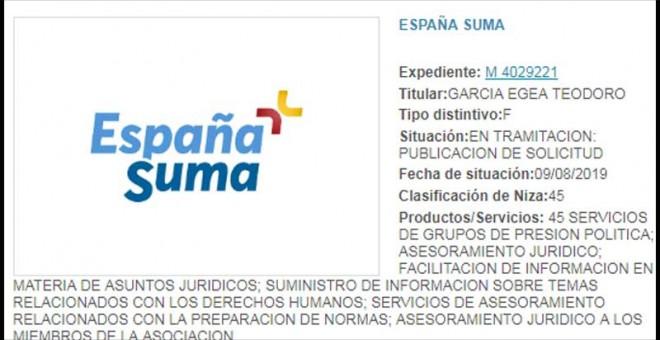 """El PP registra la marca """"España Suma"""" en previsión de una posible coalición con Cs"""