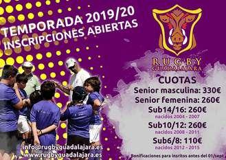 Rugby Guadalajara abre las inscripciones para la temporada 2019/2020
