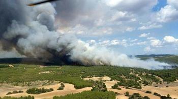 Extinguido el fuego originado el domingo en Loranca de Tajuña este martes a las 11 horas