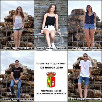 Yunquera de Henares ya conoce a sus Quintas y Quintos de Honor para las fiestas de la Virgen de la Granja