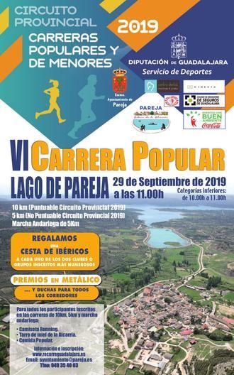 Abiertas las inscripciones para la VI Carrera Popular 'Lago de Pareja'
