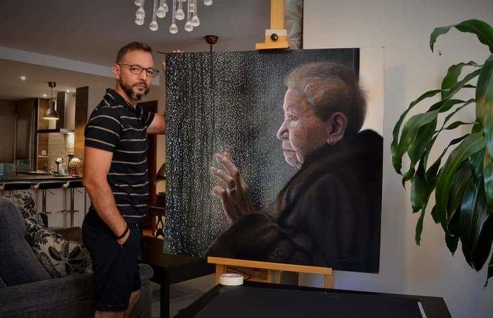 Una exposición del pintor hiperrealista Daniel Castañón en la Biblioteca Pública de Guadalajara