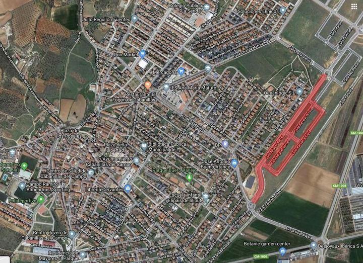 """Inminente apertura del vial que comunica los """"nuevos desarrollos"""" de Cabanillas con la Avenida de Guadalajara"""
