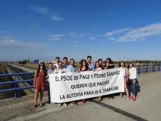 NNGG CLM pregunta a Page si va a permitir que Pedro Sánchez cobre a los vecinos de la región por utilizar las autovías