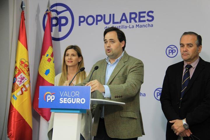 """Paco Núñez acusa a Page de """"abrazarse"""" a Sánchez y le reta a rebelarse y reivindicar la financiación para Castilla-La Mancha"""