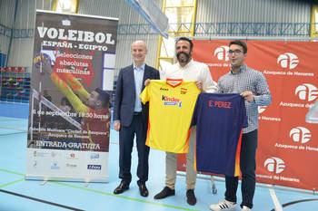 El 6 de septiembre, partido internacional de las selecciones de voleibol de España y Egipto, en el Ciudad de Azuqueca