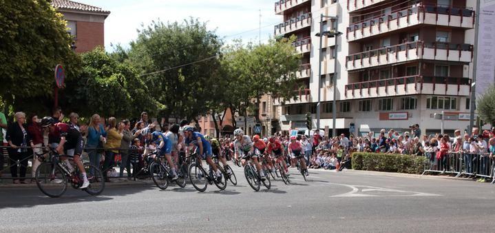 Foto : Vuelta Ciclista a España este miércoles en Guadalajara. Foto : Eduardo Bonilla