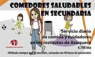 El Ayuntamiento de Azuqueca vuelve a ofrecer este curso el servicio de comedor en los institutos