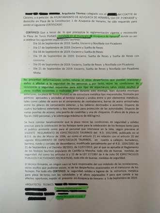 El alcalde socialista de Azuqueca debe explicar por qué la plaza de toros tiene el certificado de seguridad...¡sin estar aún montada!