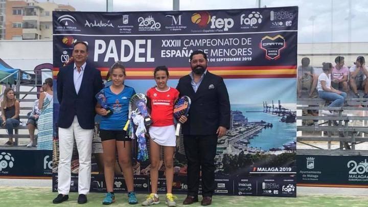Nuevo triunfo para la cabanillera Águeda Pérez: Campeona de España Alevín de Pádel