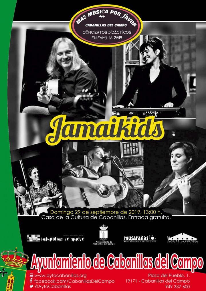 """Vuelven los conciertos familiares de """"Más música, por favor"""": el 29 de septiembre, música jamaicana con """"JamaiKids"""""""