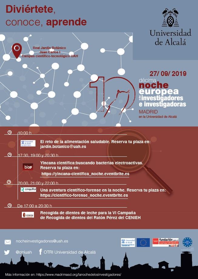 La Universidad de Alcalá celebra la 10ª Noche Europea de los Investigadores e Investigadoras