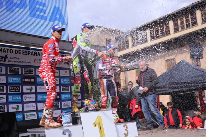 Adam Raga vence en la prueba seguntina del Campeonato de España de Trial