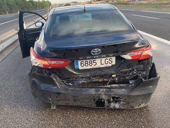 UN BUEN SUSTO : Paco Núñez sale ileso tras sufrir un accidente de tráfico en La Gineta (Albacete)