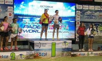 La cabanillera Águeda Pérez, bicampeona mundial de pádel