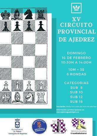 La penúltima jornada del XV Circuito Provincial de Ajedrez recala este domingo en el polideportivo de Valdeluz