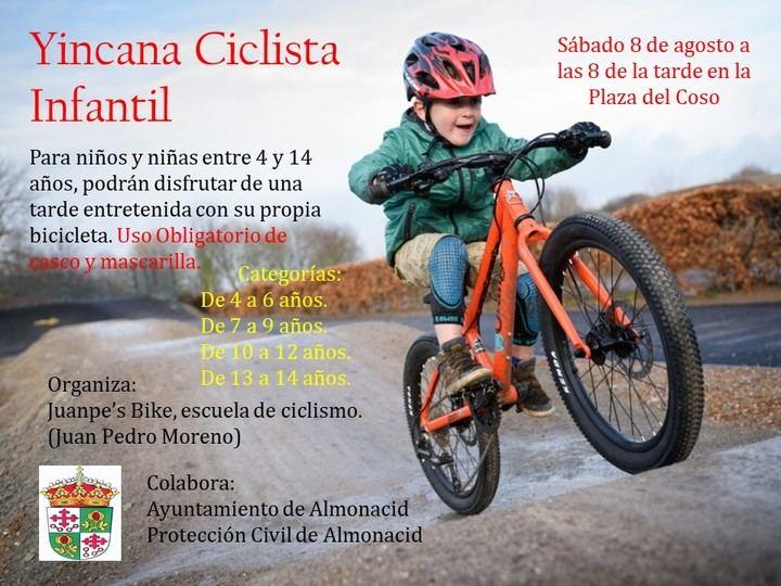 Gran yincana ciclista en Almonacid de Zorita, para niños desde los 4 a los 14 años