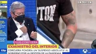 Amago de infarto del exministro Corcuera en 'Espejo Público' de Antena3