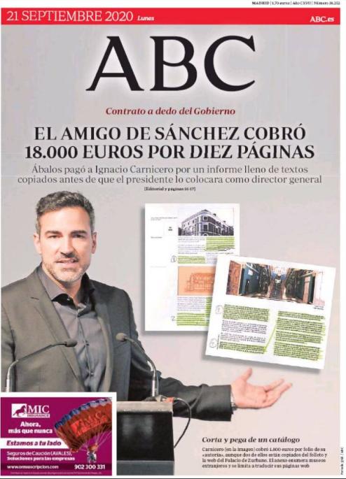 """DENUNCIA : El ministro Ábalos pagó 18.000 euros al mejor amigo del presidente Sánchez por un informe de ¡diez páginas! lleno de """"copia-pegas"""""""