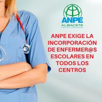 ANPE : Por Tu Salud, Por Tu Escuela, SÍ a la Enfermera Escolar