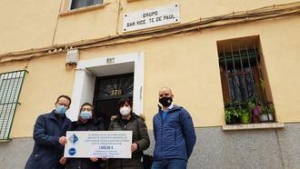 La sociedad Vicente Paúl de Guadalajara, beneficiaria de la donación anual del Colegio de Aparejadores