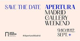 Más de 50 galerías participan hasta el 12 de septiembre en 'Apertura Madrid Gallery Weekend'