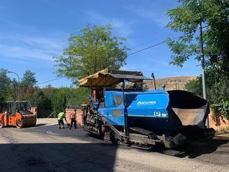 Operación asfalto, en el Barrio de la Fuente Nueva de Sigüenza