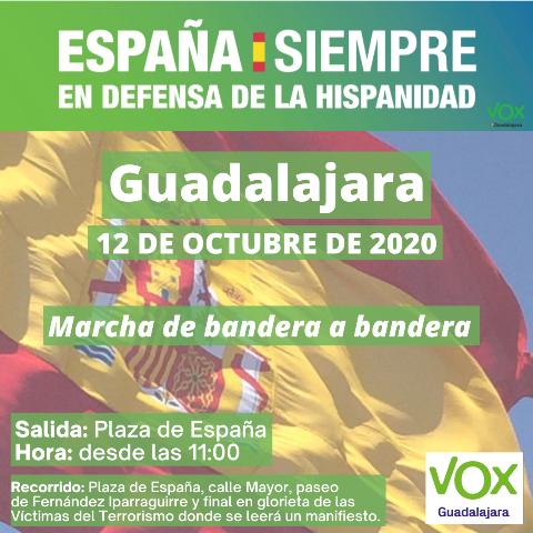 VOX mantiene la marcha a pie convocada para este lunes en Guadalajara