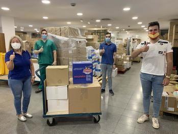 La solidaridad de pueblos pequeños de Alcarria y Campiña llega al Hospital de Guadalajara