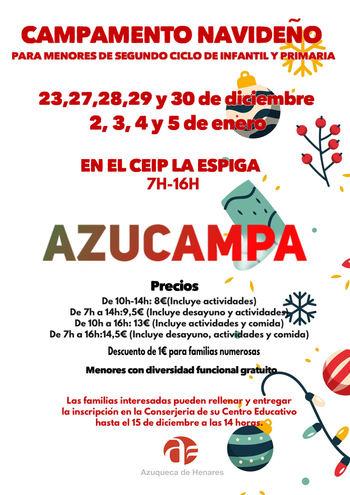 Abierta la inscripción en el Campamento Urbano de Azuqueca organizado para los días 24 y 25 de febrero