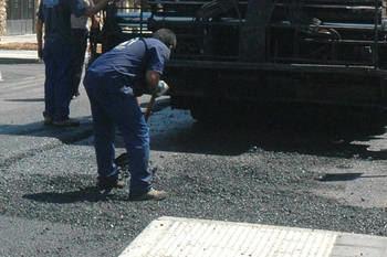 Imagen de archivo de trabajos de asfaltado. Fotografía: Ayuntamiento de Azuqueca
