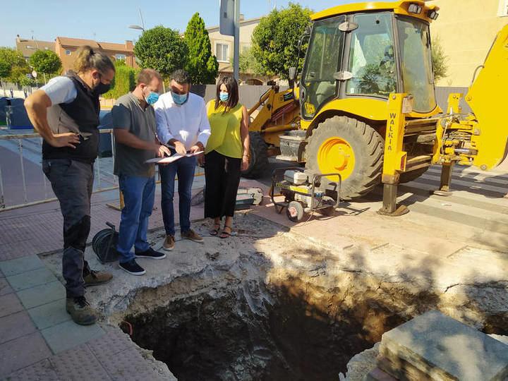 Comienzan las obras para resolver el problema de inundaciones de Vallehermoso en Azuqueca