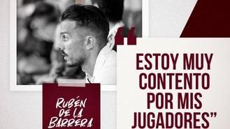 """Rubén de la Barrera: """"Estoy muy contento por mis jugadores"""""""