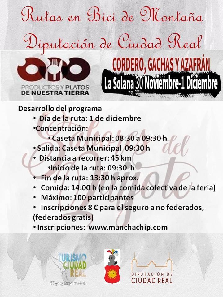 La Solana cerrará el calendario de Rutas Cicloturistas BTT en Ciudad Real