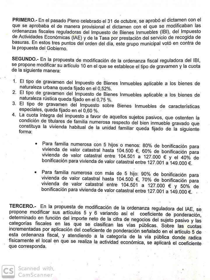 'José Luis Blanco decide definitivamente sangrar a los contribuyentes' de Azuqueca