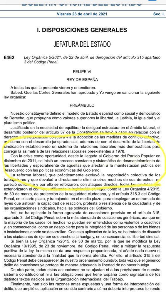 """IMPRESENTABLE : El Gobierno de Sánchez UTILIZA el BOE para acusar al PP de """"desmantelar"""" la libertad de huelga"""