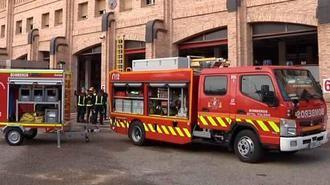 Atendidos dos guardias civiles por inhalación de humo por el incendio de El Toboso