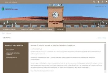 El Ayuntamiento de Cabanillas establece un sistema telemático de cita previa en Racaudación, Servicios Sociales y Urbanismo