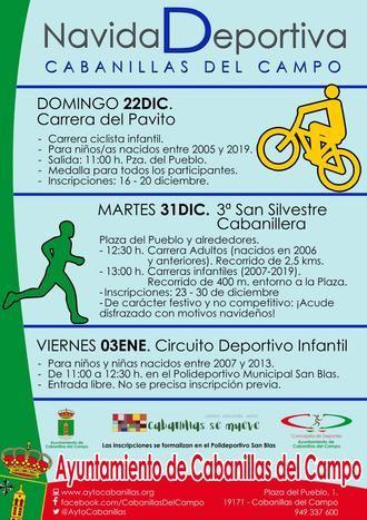 Deporte en Navidad: Carrera Ciclista del Pavito, III San Silvestre Cabanillera y Circuito Infantil