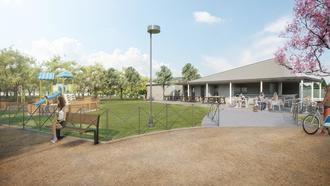 A punto de comenzar las obras de construcción del kiosco de hostelería que dará servicio al Parque Elena de la Cruz en Cabanillas