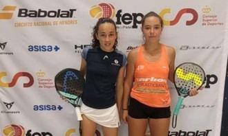 La cabanillera Águeda Pérez, de nuevo campeona de España de pádel, ahora en categoría Infantil