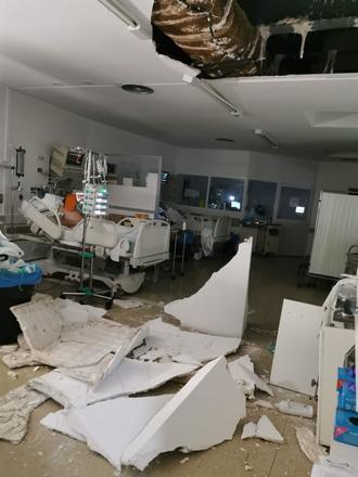 EL ESCÁNDALO DE LA SANIDAD DE PAGE EN CLM : Se cae el techo de la UCI del Hospital Virgen de la Luz de Cuenca