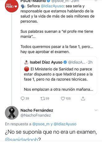 INDIGNACION EN MADRID que sigue el Fase 0, Ayuso amenaza a Sánchez con llevarle al Supremo si no le explica por qué Madrid sigue en fase cero