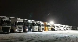TODAVÍA 722 camiones continúan embolsados en la provincia de Guadalajara por FILOMENA