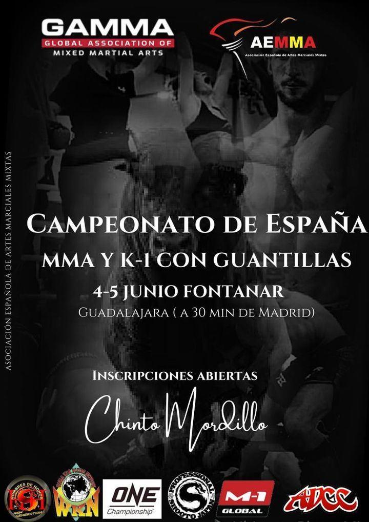 Guadalajara se viste de gala : Campeonato de España MMA y K-1 con guantillas en Fontanar
